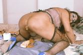 Transe scheisst beim Dildofick