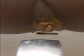 Ebony Schlampe scheisst