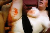 Blutige Muschi ficken
