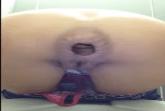 Eine dreckige Arschfotze beim scheissen