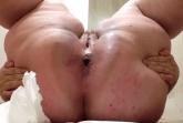 Scheisse aus einem fetten Arsch
