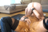 Messy Luder bei Kaviar Blowjob