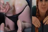 Rothaarige Fotze im Enema Porno