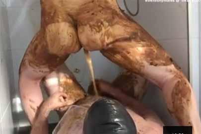 Kaviar Erotik perverses Paar lebt den KV Fetisch aus